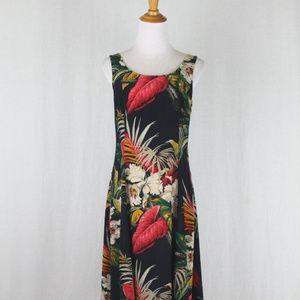 Vintage Jones New York Floral Silk Long Dress